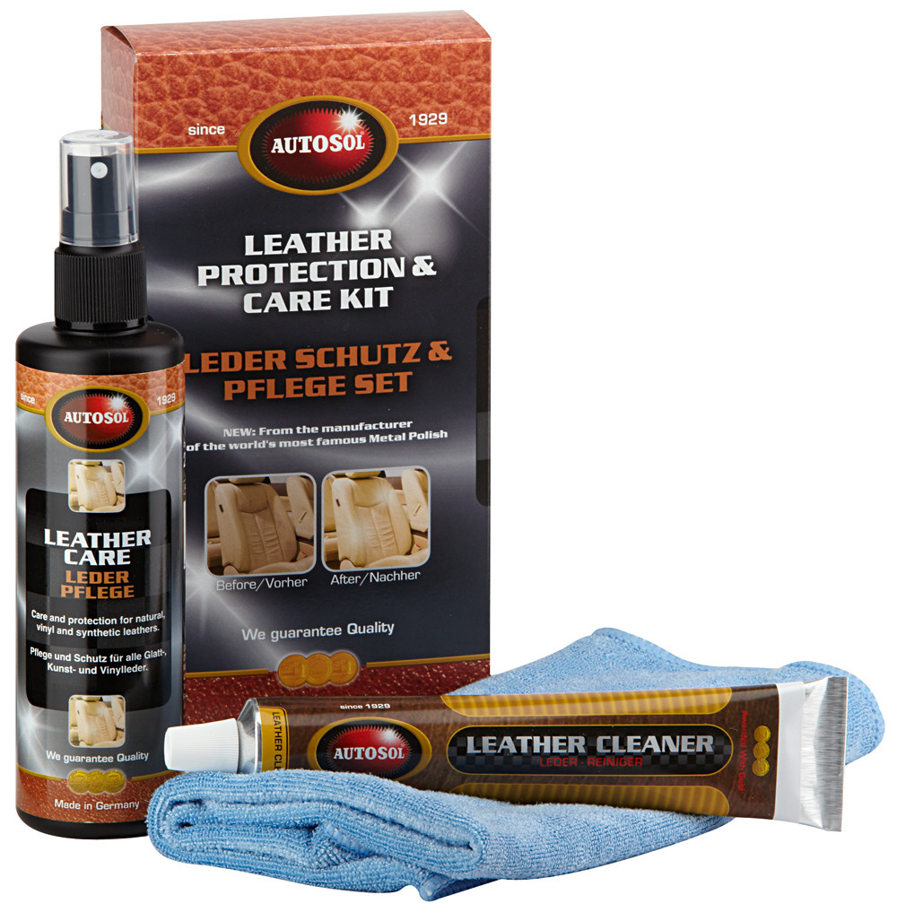 Autokosmetika Autosol Leather Protection Care Kit