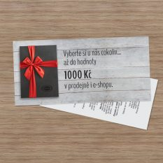 Dárkový poukaz v hodnotě 1000 Kč