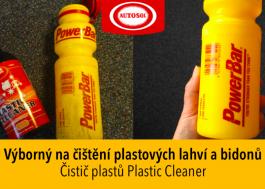 čištění plastových lahví na vodu