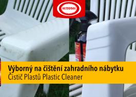 čištění plastového nábytku do zahrady