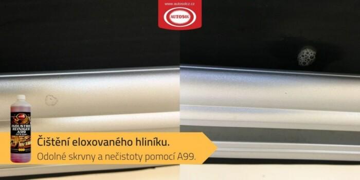 Čištění eloxovaného hliníku pomocí čističe A99 Autosol