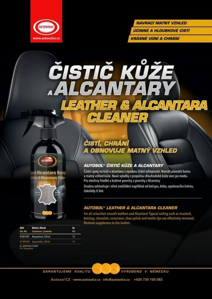 Čistič kůže a Alcantary od Autosol CZ